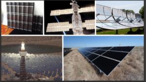 Verschillende manieren om zonne-energie op te wekken.